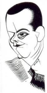 Caricature des échecs José Raul Capablanca Revue Critica 1927