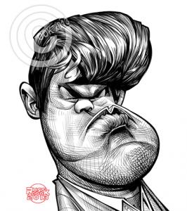 Caricature échecs Magnus Carlsen
