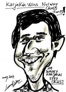 Caricature échecs Sergey Karjakin