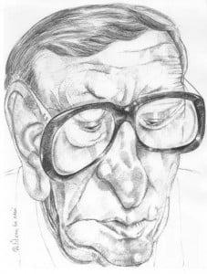 Caricature échecs Vassily Smyslov