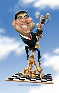 Caricature échecs Viswanathan Anand