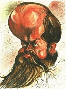 Caricature échecs Wilhelm Steinitz