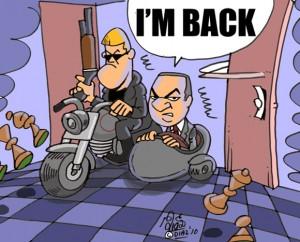 Caricature échecs Magnus Carlsen Garry Kasparov