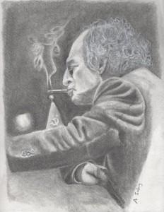 Caricatures des échecs Mikhail Tal par Tony Salaiz