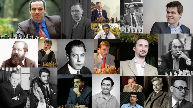 Mosaïque des Champions du Monde d'échecs