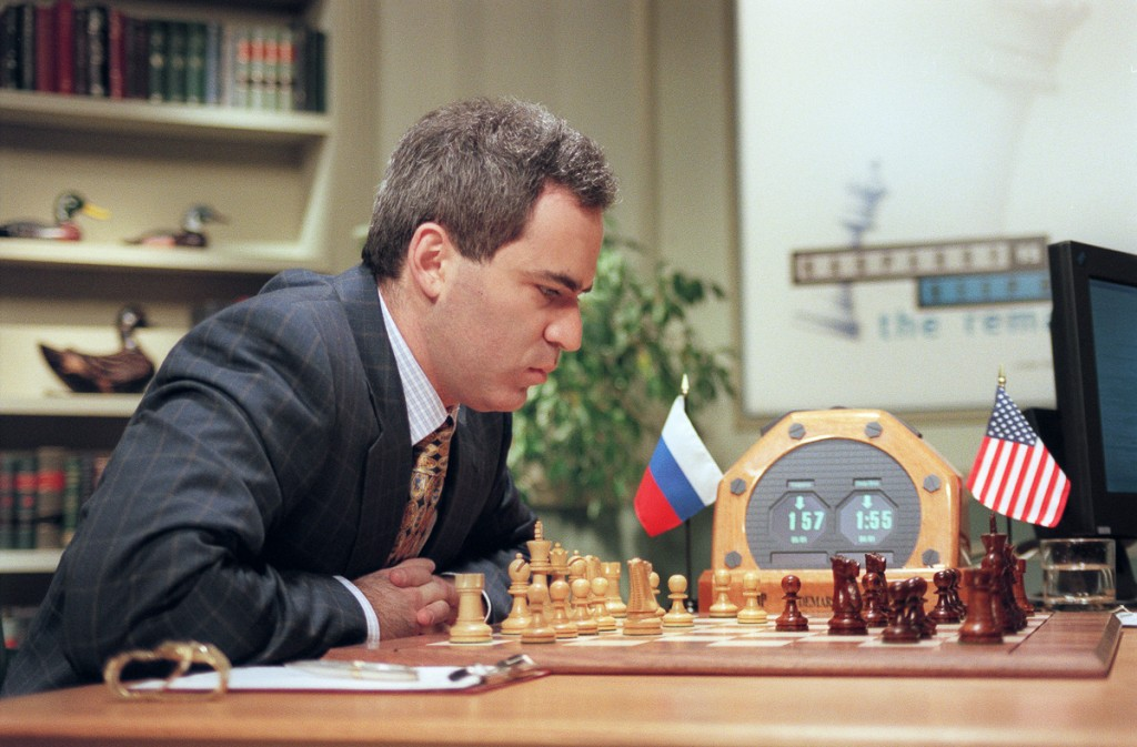 Garry Kasparov contre l'ordinateur IBM Deep Blue