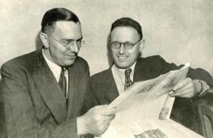 Max Euwe avec Mikhail Botvinnik