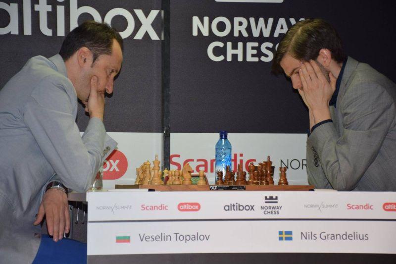 Norway Chess 2016 Ronde 5 Veselin Topalov vainqueur contre Nils Grandelius