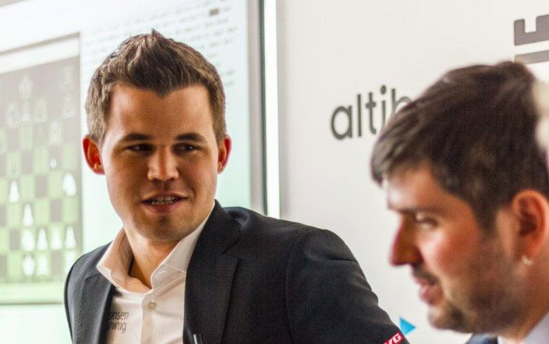 Norway Chess 2016 Ronde 7 Magnus Carlsen par Josh Huwaidi