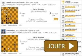 Jouer aux échecs en ligne sur CapaKaspa