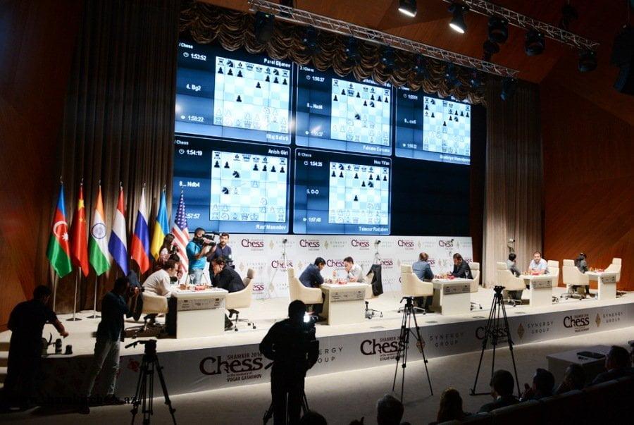 Shamkir Chess 2016 Ronde 1 Vue générale
