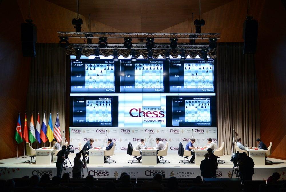 Shamkir chess 2016 Ronde 2 Vue générale