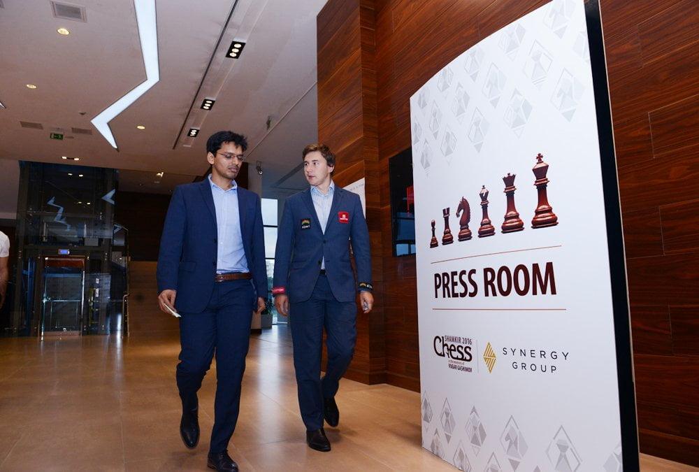 Shamkir Chess 2016 Ronde 3 Pentala Harikrishna et Sergey Karjakin