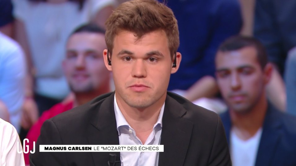 Magnus Carlsen à Paris au Grand Journal de Canal+