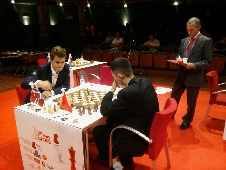 Bilbao Chess Masters 2016 Ronde 2 Magnus Carlsen