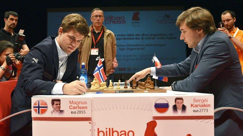 Bilbao Chess Masters 2016 Ronde 3 Magnus Carlsen contre Sergey Karjakin