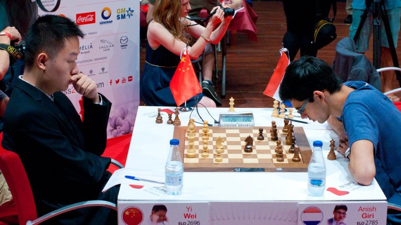 Bilbao Chess Masters 2016 Ronde 6 Yi Wei domine Anish Giri