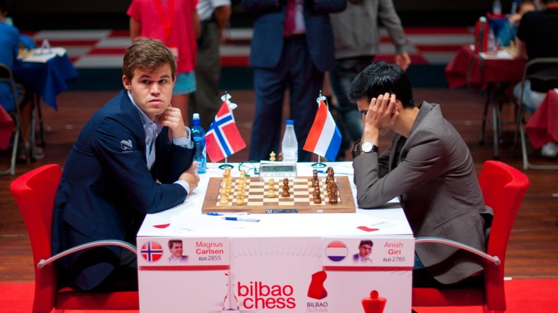 Bilbao Chess Masters 2016 Ronde 9 Magnus Carlsen achève Anish Giri
