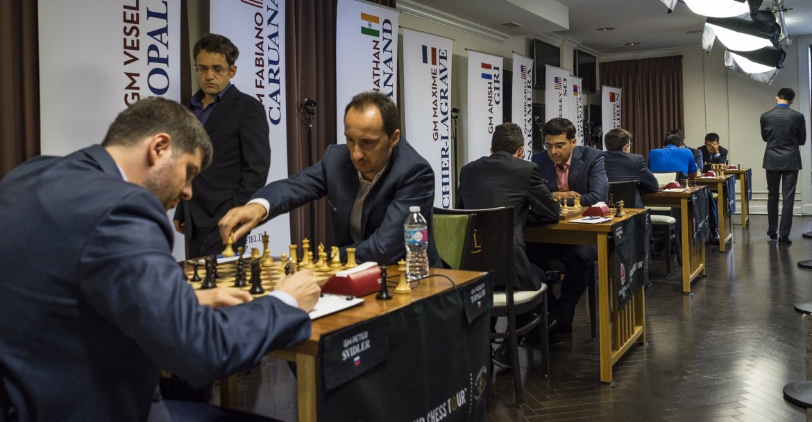 Sinquefield Cup 2016 Grand Chess Tour Ronde1 Vue des parties
