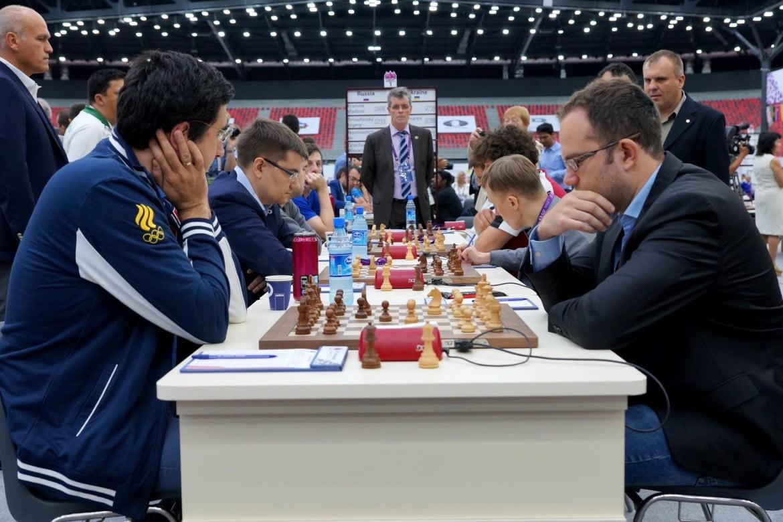 Olympiade échecs 2016 ronde 4 Russie Ukraine