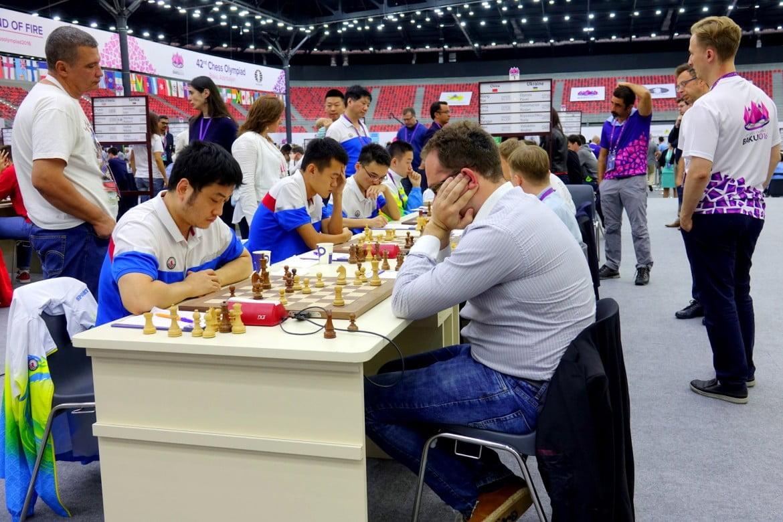 Olympiade échecs 2016 Ronde 5 Ukraine Chine