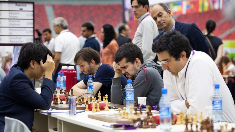 Olympiade d'échecs 2016 Ronde 8 Russie contre Etats-Unis