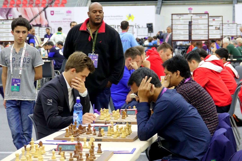Olympiade d'échecs 2016 Ronde 2 Magnus Carlsen