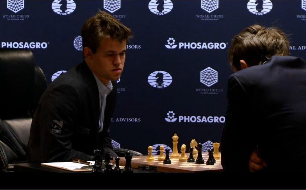 Carlsen Karjakin 2016 partie 1