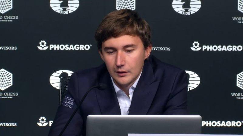 Carlsen Karjakin 2016 partie 11 conference presse