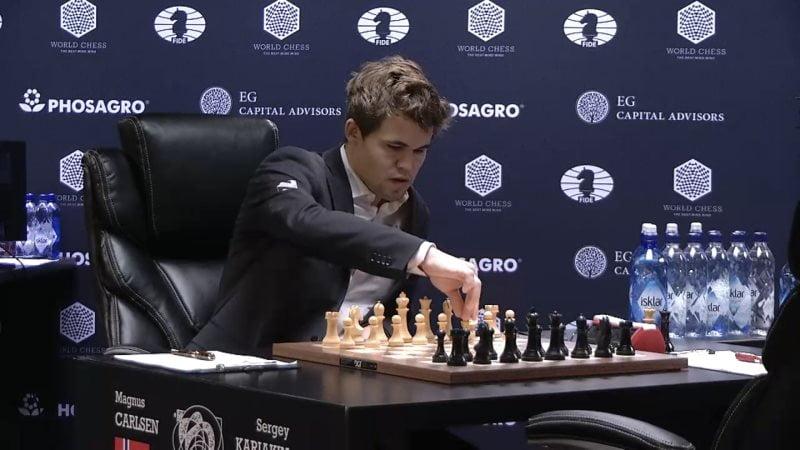 Carlsen Karjakin 2016 partie 12 debut