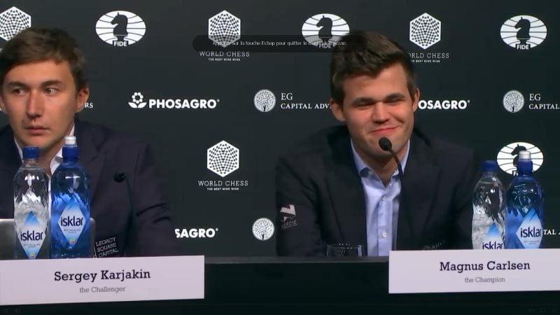 Carlsen Karjakin 2016 Partie 2 Conférence de presse