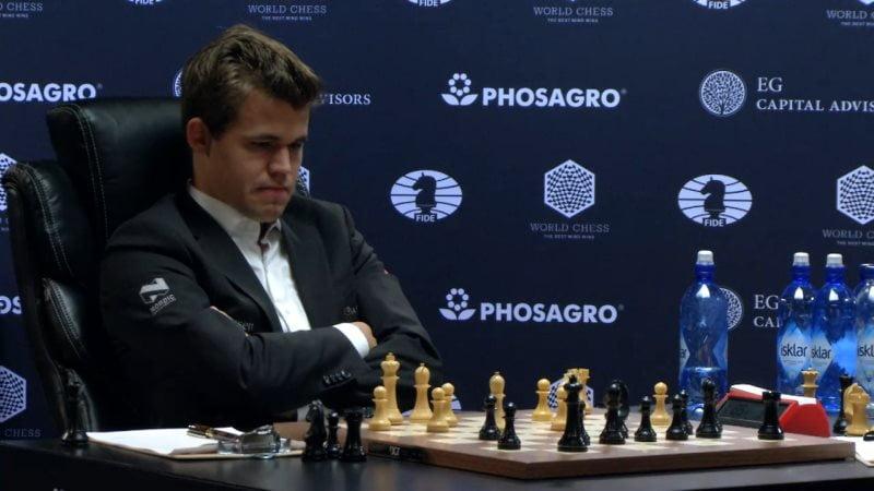 Carlsen Karjakin 2016 partie 3 coup 18