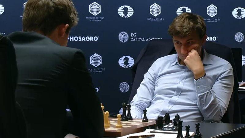 Carlsen Karjakin 2016 partie 3 coup 37