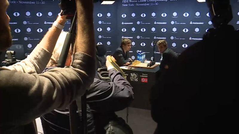 Carlsen Karjakin 2016 partie 4 avant le début