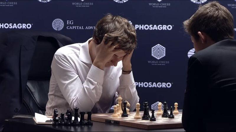 Carlsen Karjakin 2016 partie 4 coup 37
