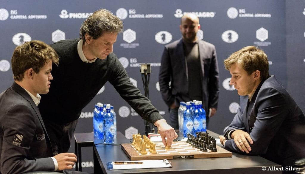 Carlsen Karjakin 2016 partie 5 Bennett Miller