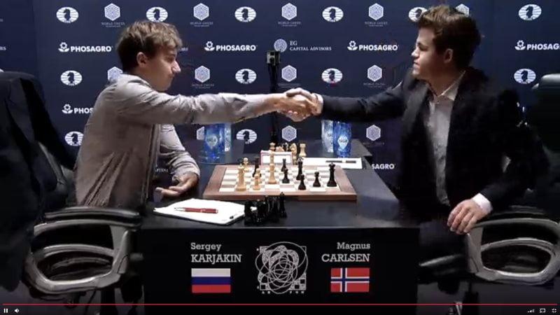 Carlsen Karjakin 2016 partie 6 fin