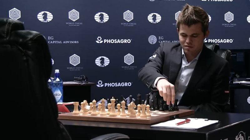 Carlsen Karjakin 2016 partie 7 avant la partie