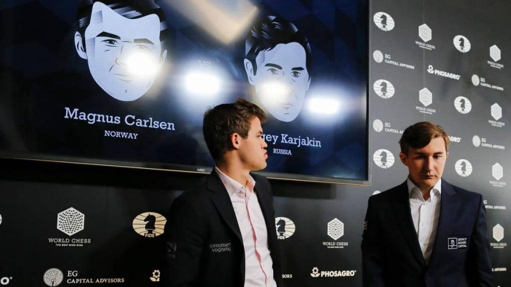 Conférence de presse Carlsen-Karjakin-2016