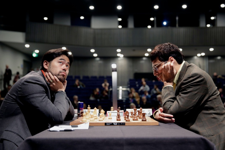 London Chess Classic 2016 ronde 3 Nakamura bat Anand