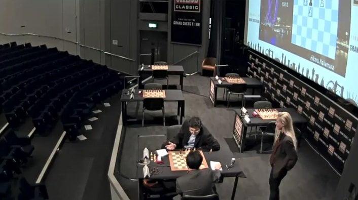 London Chess Classic 2016 ronde 5 Kramnik Nakamura