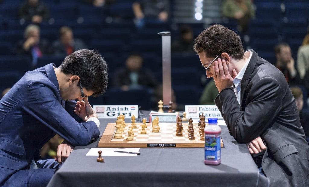 London Chess Classic 2016 ronde 9 Anish Giri - Fabiano Caruana