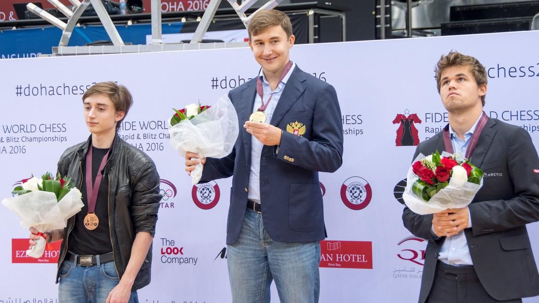 Sergey Karjakin Champion du Monde échecs Blitz 2016