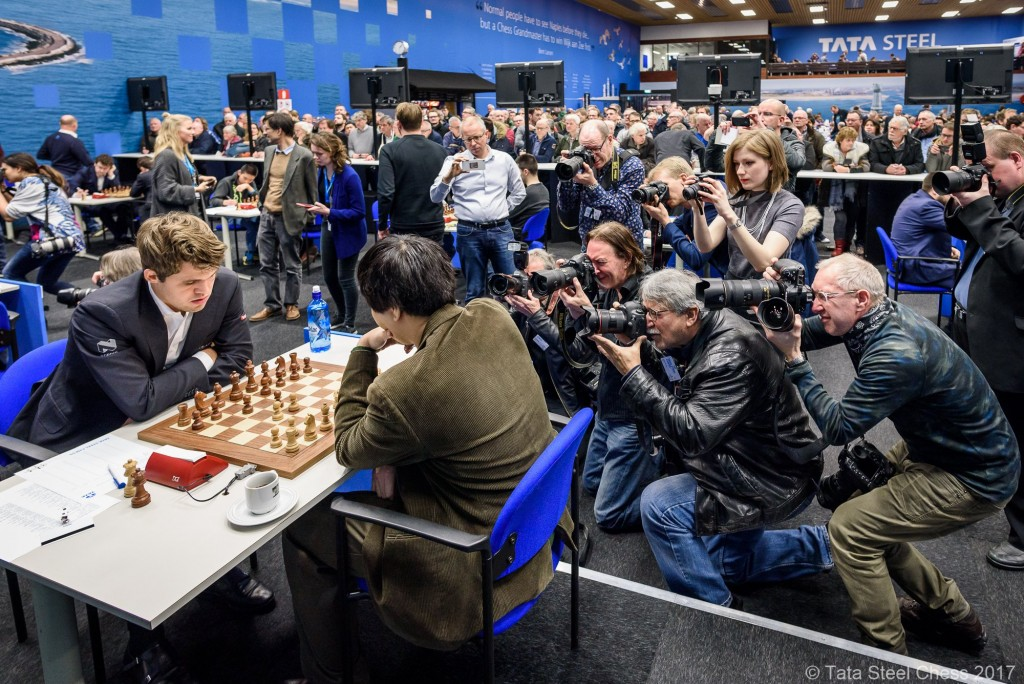 Tata Steel Chess Masters 2017 ronde 1 Wesley So contre Magnus Carlsen