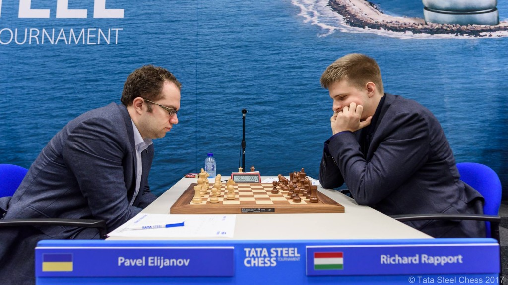Tata Steel Chess Masters 2017 ronde 1 Pavel Eljanov contre Richard Rapport