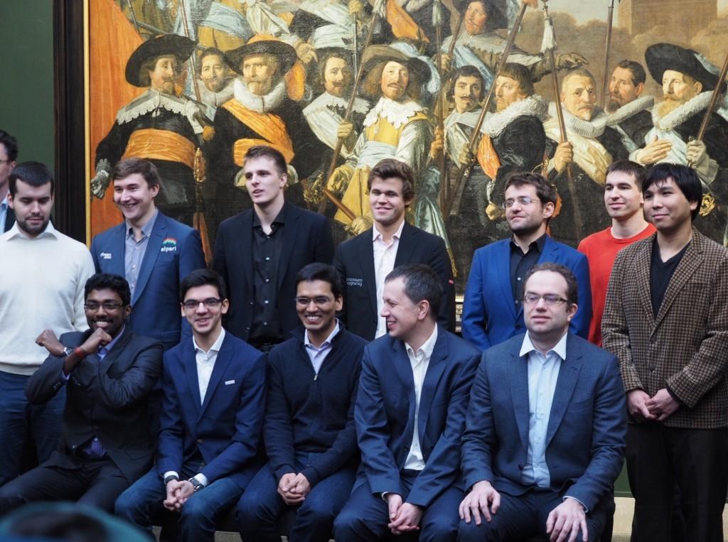 Tata Steel Chess Masters 2017 ronde 10 Joueurs au musée