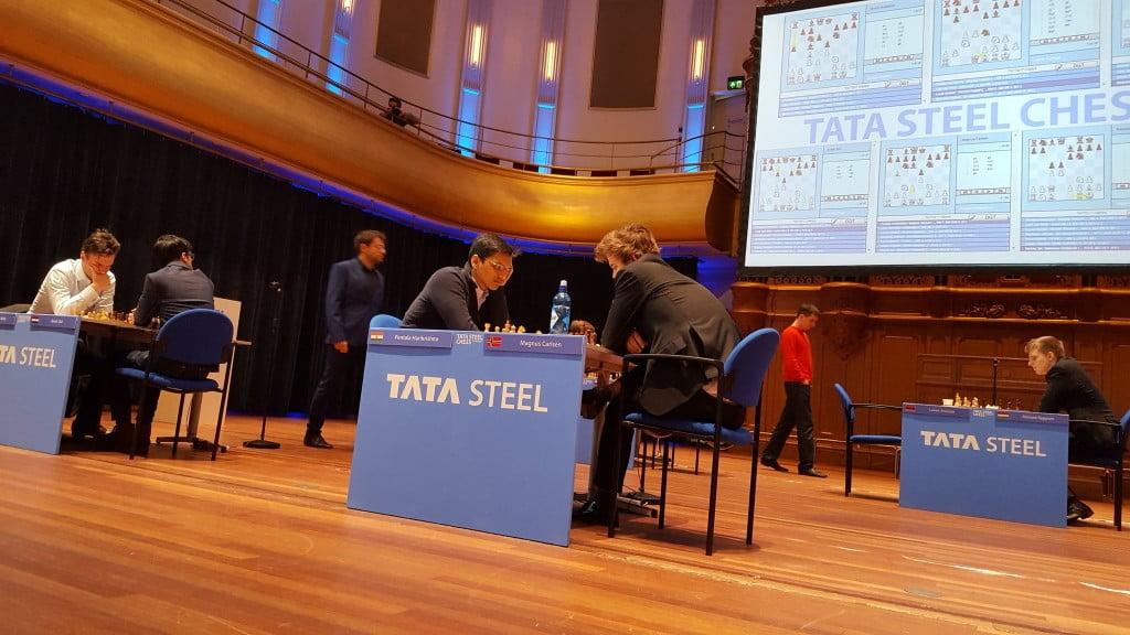 Tata Steel Chess Masters 2017 ronde 10 Vue salle avant parties