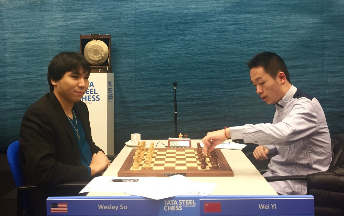 Tata Steel Chess Masters 2017 ronde 12 Wesley So contre Wei Yi