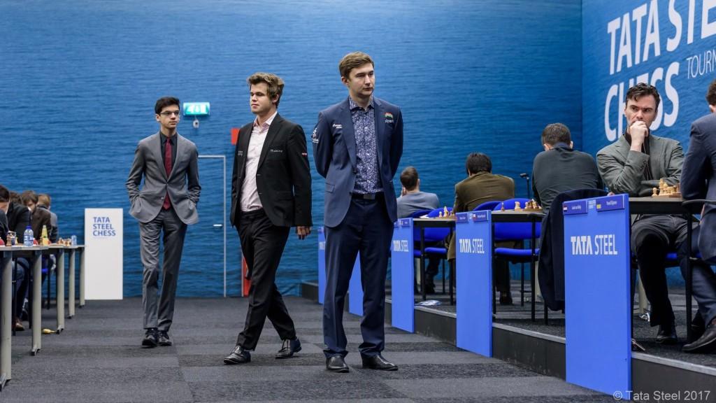 Tata Steel Chess Masters 2017 ronde 2 Karjakin Carlsen Giri