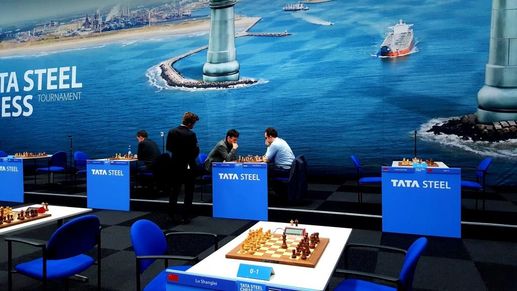Tata Steel Chess Masters 2017 ronde 2 Pavel Eljanov contre Loek Van Wely